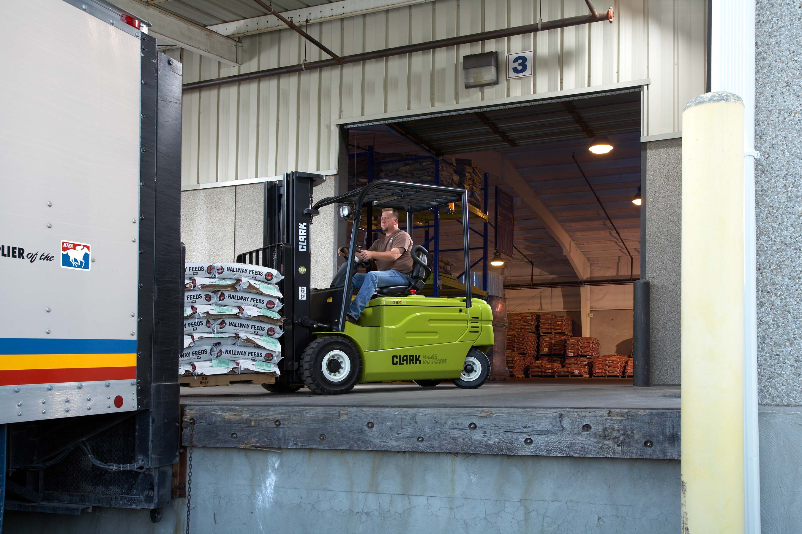 GEX Electric Forklift on Dock